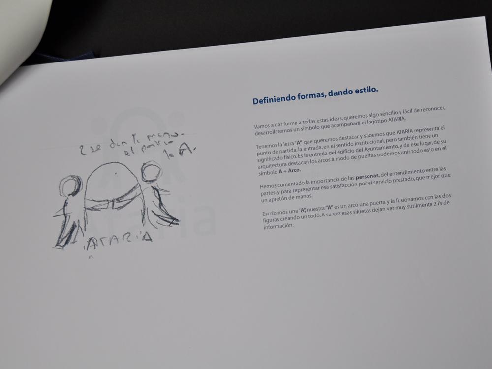 Logotipo Ataria propuesta presentada finalista 1