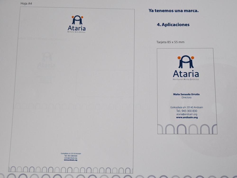 Logotipo Ataria propuesta finalista aplicaciones ejemplos1