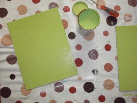 corcho pintado de verde