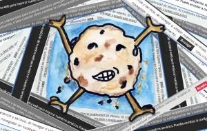 Ilustración que representa la invasión de los avisos cookies
