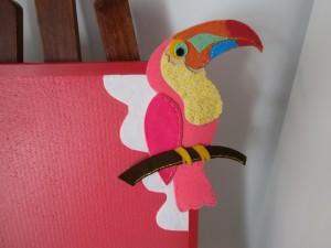 Tabla de corcho decorada para niños