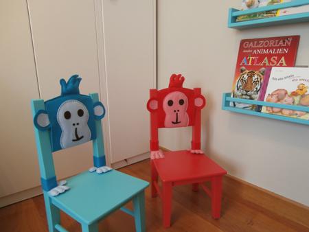 zona de lectura en cuarto infantil